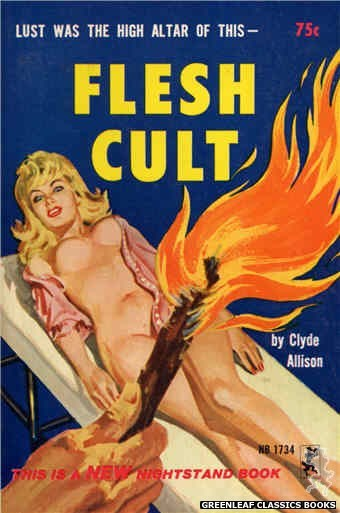 Nightstand Books NB1734 - Flesh Cult by Clyde Allison, cover art by Robert Bonfils (1965)