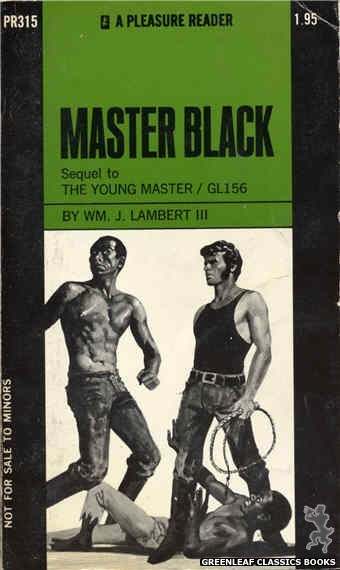 Pleasure Reader PR315 - Master Black by William J. Lambert, III, cover art by Darrel Millsap (1971)