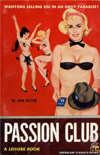 Leisure Books LB649 - Passion Club by John Dexter, cover art by Unknown (1964)