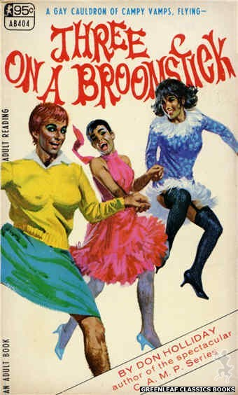 Adult Books AB404 - Three On A Broomstick by Don Holliday, cover art by Robert Bonfils (1967)