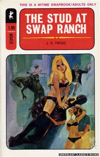 Nitime Swapbooks NS412 - The Stud At Swap Ranch by J.D. Twigg, cover art by Darrel Millsap (1971)