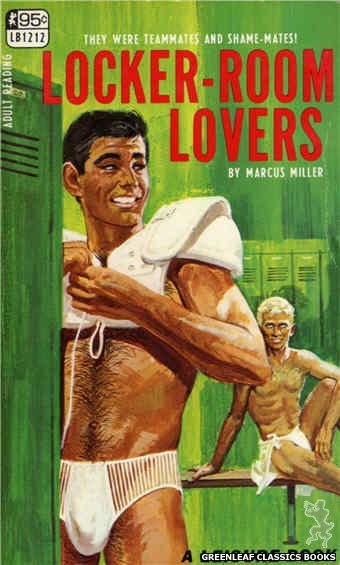 Leisure Books LB1212 - Locker-Room Lovers by Marcus Miller, cover art by Darrel Millsap (1967)