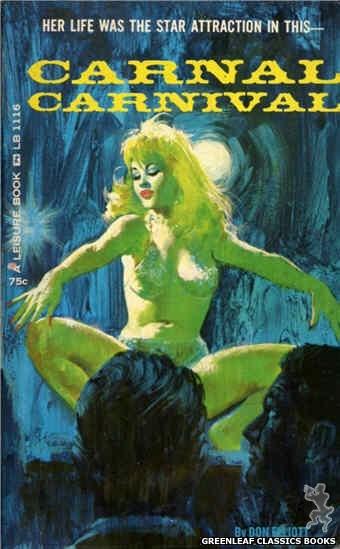 Leisure Books LB1116 - Carnal Carnival by Don Elliott, cover art by Robert Bonfils (1965)