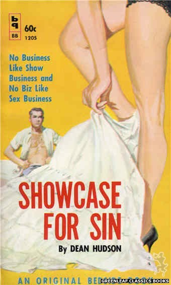 Bedside Books BB 1205 - Showcase For Sin by Dean Hudson, cover art by Harold W. McCauley (1961)