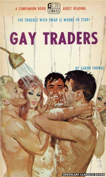 Companion Books CB562 - Gay Traders by Aaron Thomas, cover art by Robert Bonfils (1968)