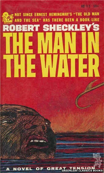 Regency Books RB112 - The Man In The Water by Robert Sheckley, cover art by Mel Pekarsky (1961)
