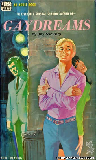 Adult Books AB437 - Gaydreams by Jay Vickery, cover art by Darrel Millsap (1968)