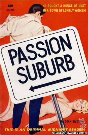 Midnight Reader 1961 MR418 - Passion Suburb by Dean Hudson, cover art by Harold W. McCauley (1962)