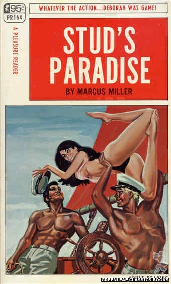 Pleasure Reader PR164 - Stud's Paradise by Marcus Miller, cover art by Tomas Cannizarro (1968)