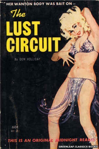 Midnight Reader 1961 MR461 - The Lust Circuit by Don Holliday, cover art by Unknown (1962)