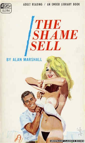 Ember Library EL 394 - The Shame Sell by Alan Marshall, cover art by Robert Bonfils (1967)