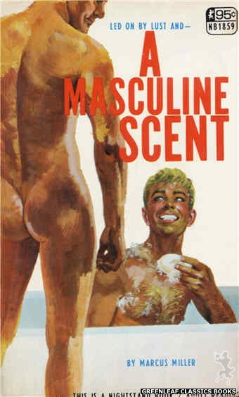 Nightstand Books NB1859 - A Masculine Scent by Marcus Miller, cover art by Robert Bonfils (1967)