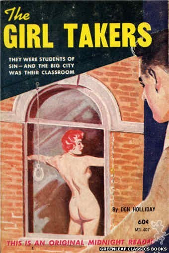 Midnight Reader 1961 MR407 - The Girl Takers by Don Holliday, cover art by Harold W. McCauley (1961)