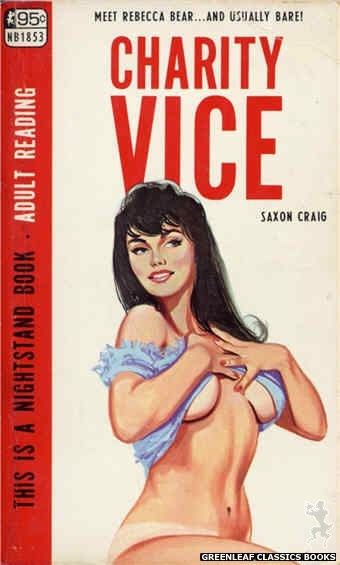 Nightstand Books NB1853 - Charity Vice by Saxon Craig, cover art by Unknown (1967)