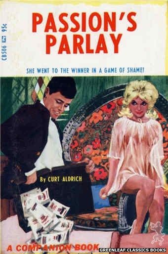 Companion Books CB506 - Passion's Parlay by Curt Aldrich, cover art by Darrel Millsap (1967)