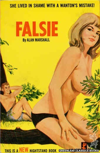 Nightstand Books NB1770 - Falsie by Alan Marshall, cover art by Unknown (1966)