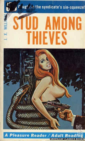 Pleasure Reader PR183 - Stud Among Thieves by J.X. Williams, cover art by Tomas Cannizarro (1968)