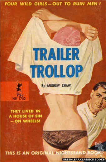 Nightstand Books NB1703 - Trailer Trollop by Andrew Shaw, cover art by Harold W. McCauley (1964)