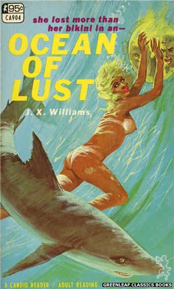 Candid Reader CA904 - Ocean Of Lust by J.X. Williams, cover art by Robert Bonfils (1967)