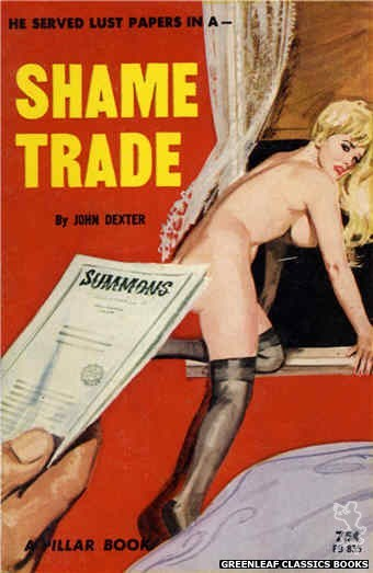 Pillar Books PB835 - Shame Trade by John Dexter, cover art by Unknown (1964)