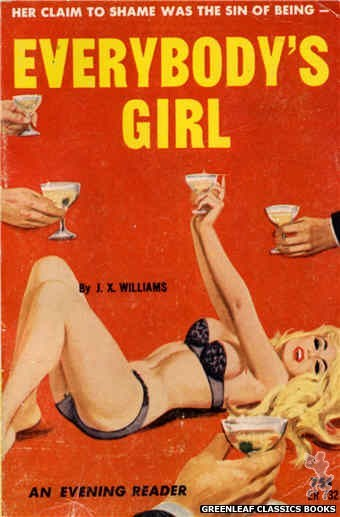 Evening Reader ER732 - Everybody's Girl by J.X. Williams, cover art by Robert Bonfils (1964)