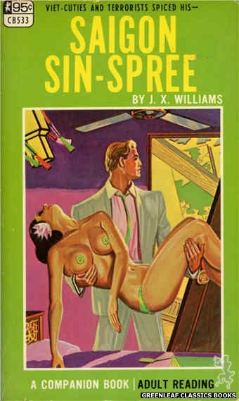 Companion Books CB533 - Saigon Sin-Spree by J.X. Williams, cover art by Tomas Cannizarro (1967)