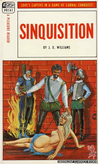 Pleasure Reader PR141 - Sinquisition by J.X. Williams, cover art by Ed Smith (1967)