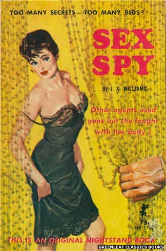 Nightstand Books NB1707 - Sex Spy by J.X. Williams, cover art by Harold W. McCauley (1964)