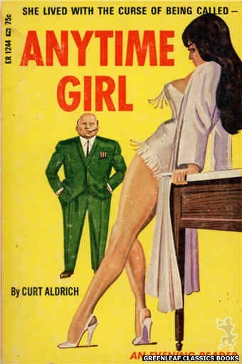 Evening Reader ER1244 - Anytime Girl by Curt Aldrich, cover art by Unknown (1966)