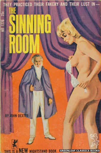 Nightstand Books NB1776 - The Sinning Room by John Dexter, cover art by Unknown (1966)