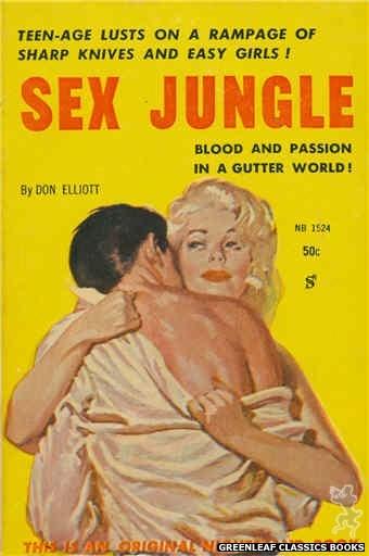 Nightstand Books NB1524 - Sex Jungle by Don Elliott, cover art by Harold W. McCauley (1960)