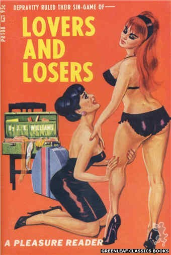 Pleasure Reader PR108 - Lovers And Losers by J.X. Williams, cover art by Tomas Cannizarro (1967)
