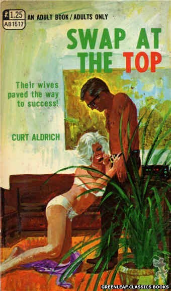 Adult Books AB1517 - Swap At The Top by Curt Aldrich, cover art by Robert Bonfils (1970)