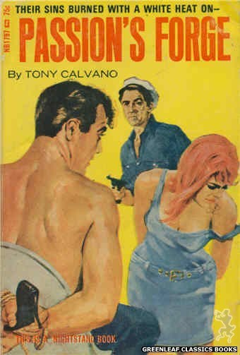 Nightstand Books NB1797 - Passion's Forge by Tony Calvano, cover art by Darrel Millsap (1966)