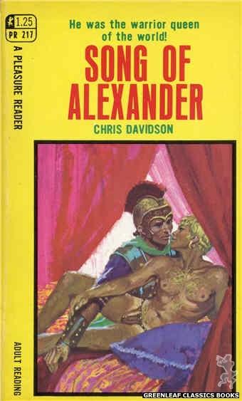 Pleasure Reader PR217 - Song Of Alexander by Chris Davidson, cover art by Robert Bonfils (1969)