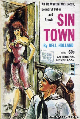 Bedside Books BB 1233 - Sin Town by Dell Holland, cover art by Unknown (1962)