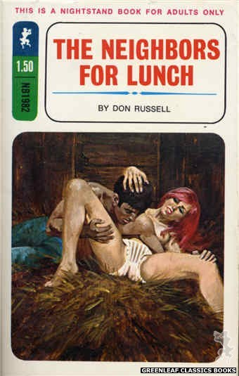 Nightstand Books NB1982 - The Neighbors for Lunch by Don Russell, cover art by Unknown (1970)