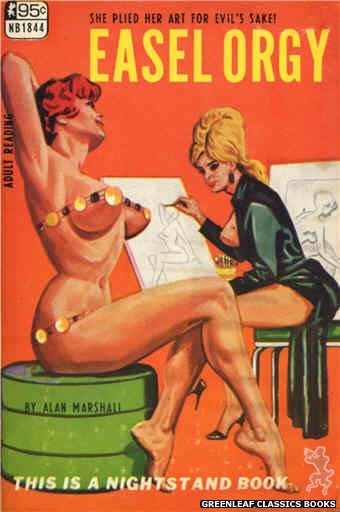 Nightstand Books NB1844 - Easel Orgy by Alan Marshall, cover art by Tomas Cannizarro (1967)
