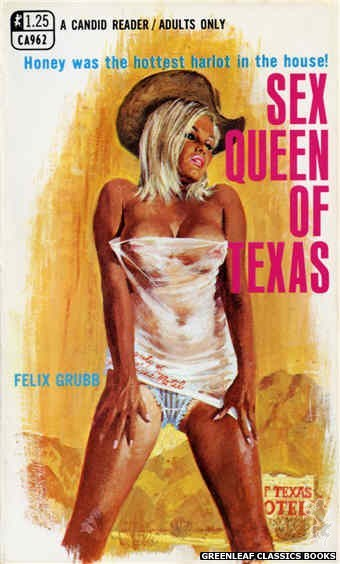 Candid Reader CA962 - Sex Queen Of Texas by Felix Grubb, cover art by Robert Bonfils (1969)