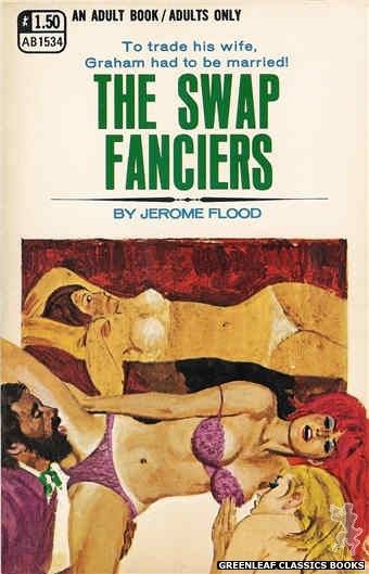 Adult Books AB1534 - The Swap Fanciers by Jerome Flood, cover art by Robert Bonfils (1970)