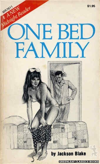 Midnight Reader 1974 MR7611 - One Bed Family by Jackson Blake, cover art by Unknown (1975)