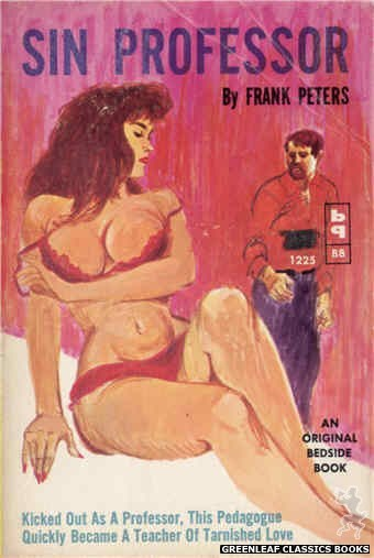 Bedside Books BB 1225 - Sin Professor by Frank Peters, cover art by Unknown (1962)