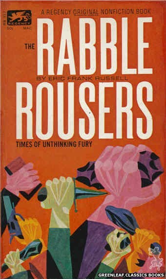Regency Books RB317 - The Rabble Rousers by Eric Frank Russell, cover art by George Suyeoka (1963)