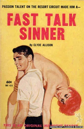 Midnight Reader 1961 MR438 - Fast Talk Sinner by Clyde Allison, cover art by Harold W. McCauley (1962)