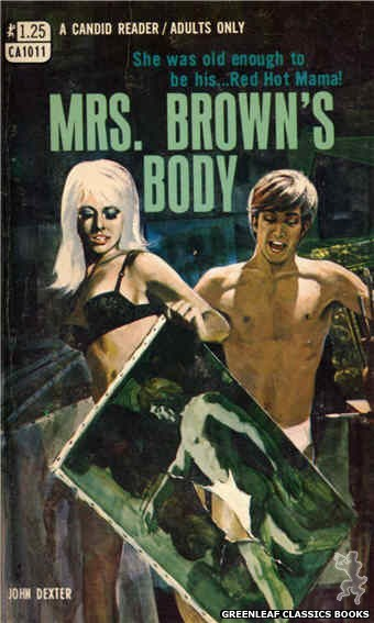 Candid Reader CA1011 - Mrs. Brown's Body by John Dexter, cover art by Darrel Millsap (1970)