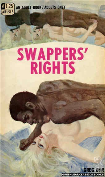 Adult Books AB1513 - Swappers' Rights by Greg Orr, cover art by Robert Bonfils (1970)