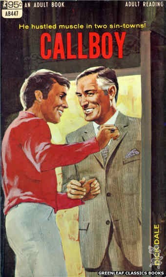 Adult Books AB447 - Callboy by Dick Dale, cover art by Darrel Millsap (1968)