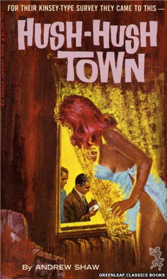 Ember Library EL 336 - Hush-Hush Town by Andrew Shaw, cover art by Robert Bonfils (1966)