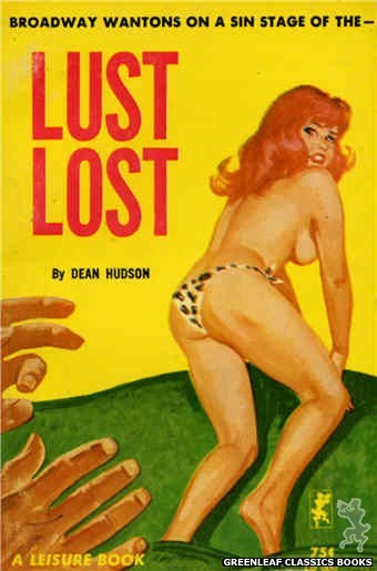 Leisure Books LB660 - Lust Lost by Dean Hudson, cover art by Unknown (1964)
