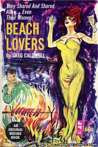 Bedside Books BB 1241 - Beach Lovers by Greg Caldwell, cover art by Unknown (1963)